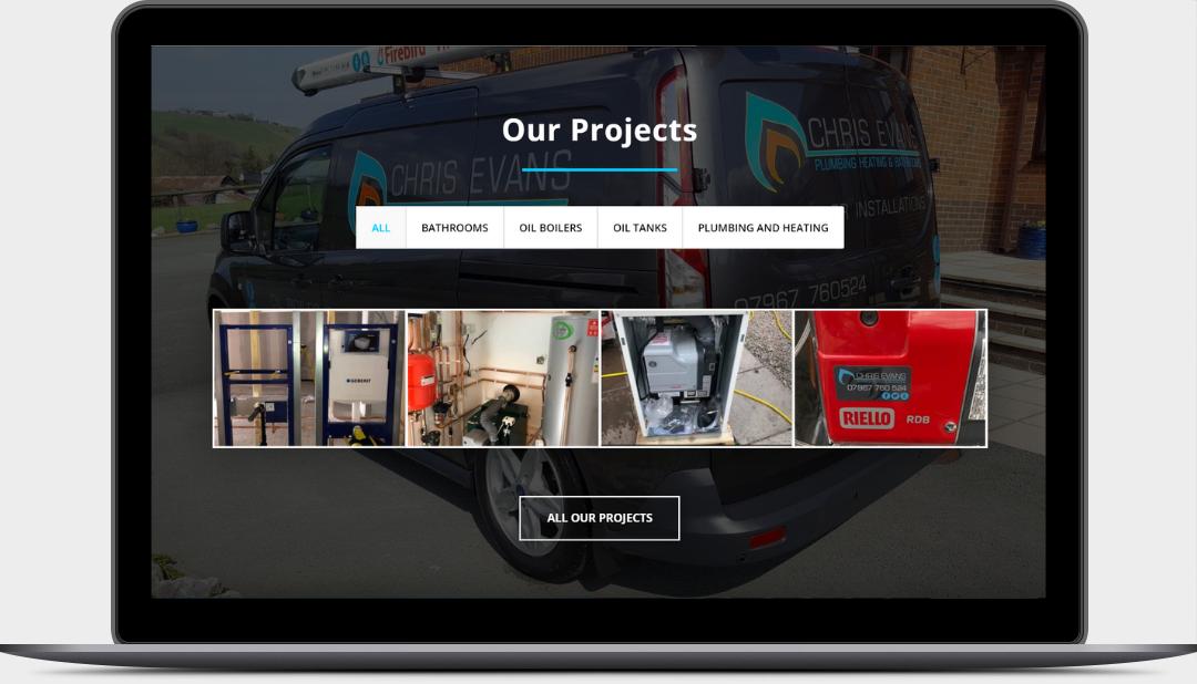 Chris Evans Plumbing & Heating Website Design by Digidol