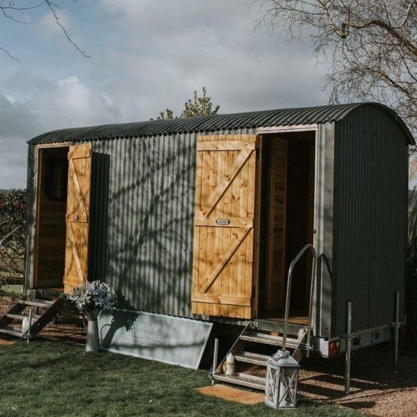 Nomadic Washrooms Luxury Shepherd Hut Toilets for Hire in the UK.